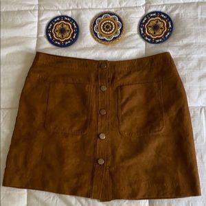 (4/$30) Primark Suede button down skirt